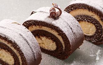 Buche glacée au chocolat et caramel au beurre salé