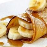 Recette de la crêpe Martiniquaise banane flambée au rhum vieux