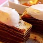 Gâteau de crêpes au chocolat et à la chantilly