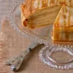 Gâteau de crêpes au mascarpone et caramel au beurre salé