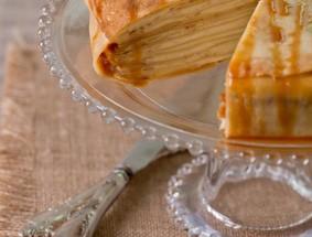 Gateau de crêpes au mascarpone et caramel breton