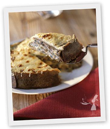 gratin de galettes bretonnes aux crevettes