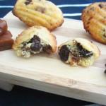 Madeleines au caramel beurre salé & pépites de chocolat fondantes