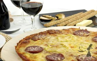 Pizza andouille bretonne