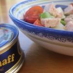 Salade de pommes de terre et pâté Hénaff