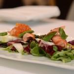 Salade de homard et roquette et sa vinaigrette à l'huile de homard breton