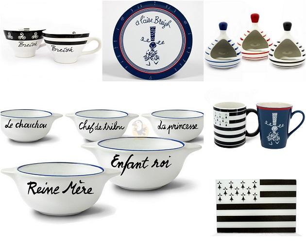 Vaisselle bretonne moderne